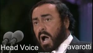 What is Chest Voice -Pavarotti uses head voice extensively in Classical Music and Opera
