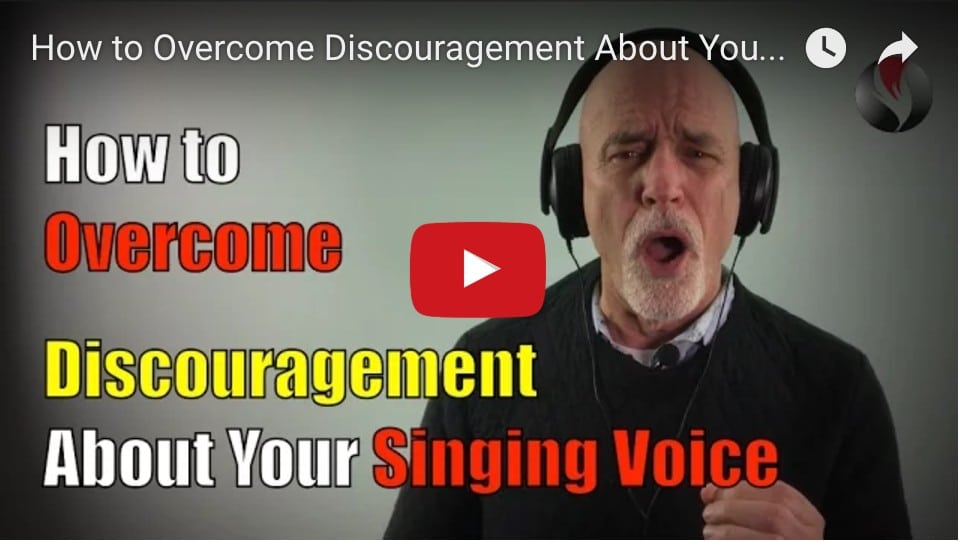 How to Overcome Discouragement About Your Singing Voice