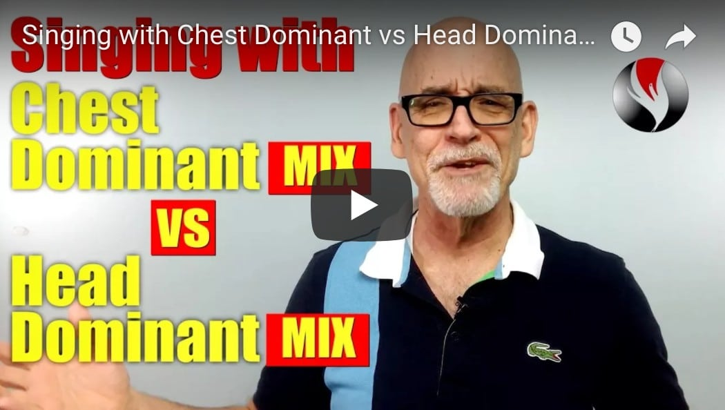 Singing with Chest Dominant vs Head Dominant Mix